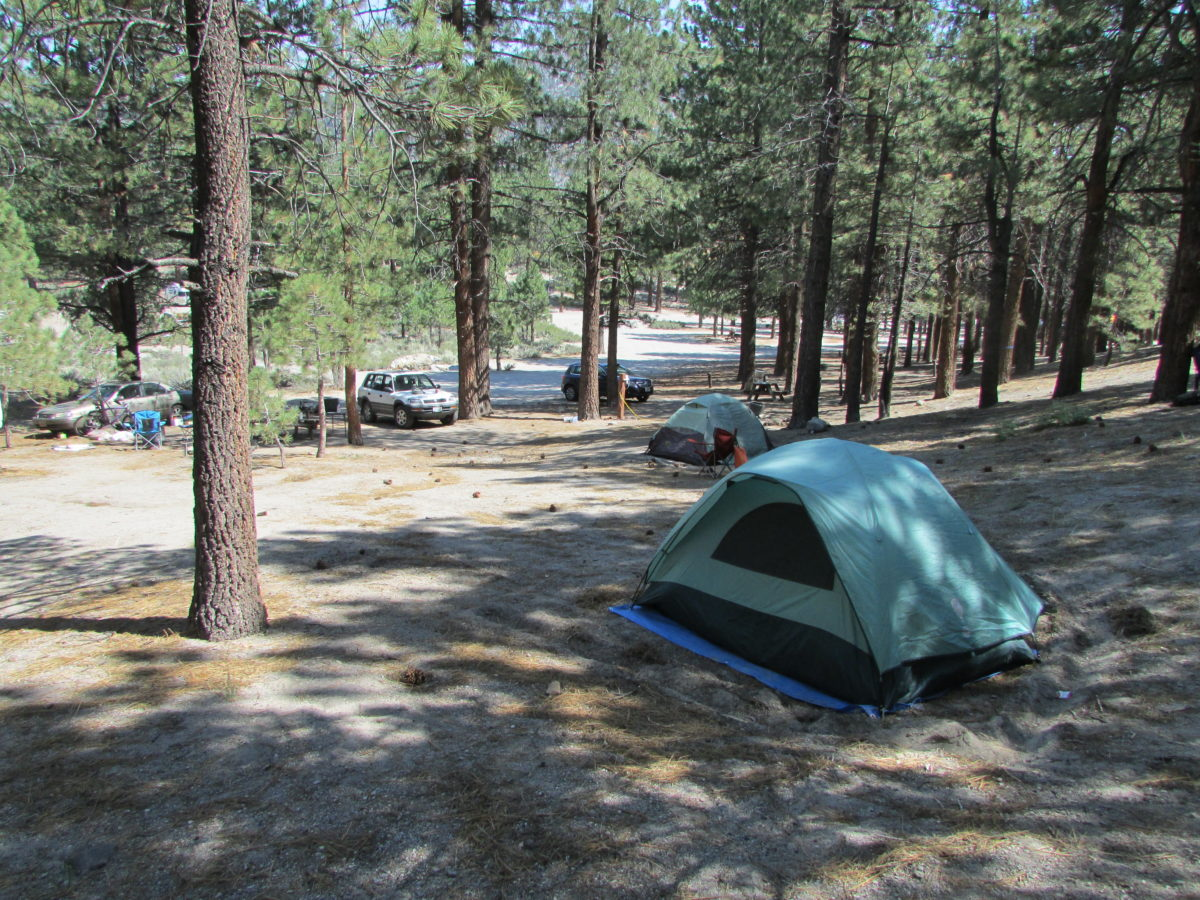 Our campsite June Lake 2015