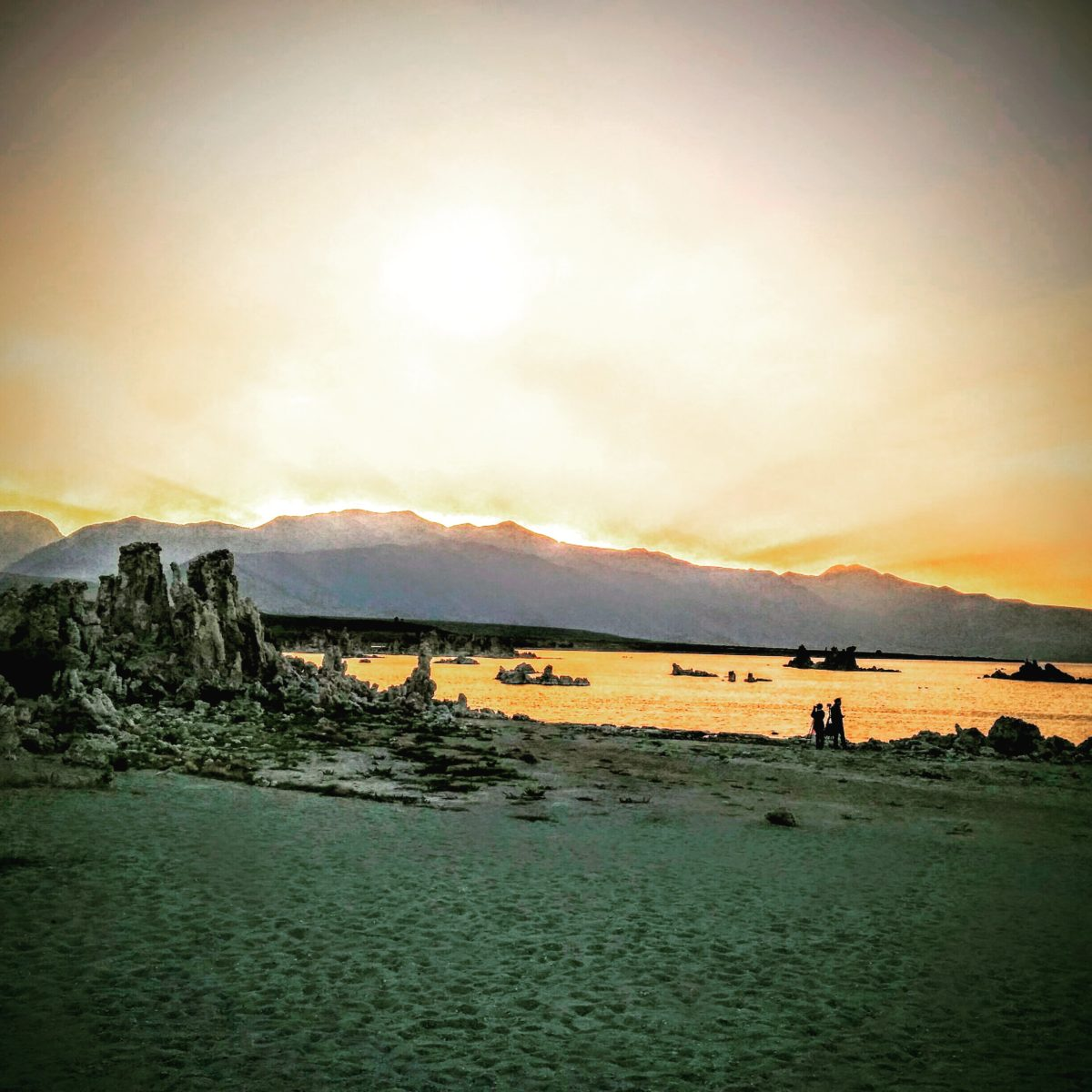 Sunset over South Tufa, Mono Lake 2015